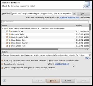 Instalação do Jboss Tools 3 no Eclipse 3.5